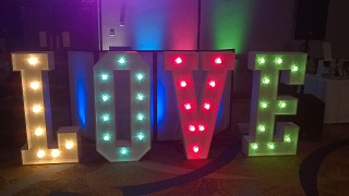 LOVE LETTERS CAN BE CHANGED TO MATCH YOUR COLOUR SCHEME